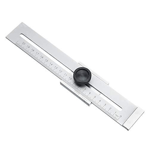 KUNSE 200mm/250mm/300mm Scribing Herramienta Tornillo Marcador de Marcado Mark Scraper Herramienta para Regla de medición de carpintería-300mm