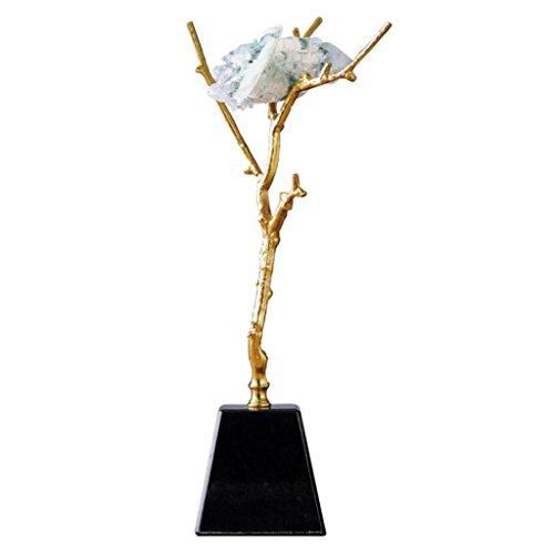 SHILONG Cristal Minimaliste Moderne Pierre De Mode en Laiton Sculpture Artisanat Bijoux Villa De Luxe Mobilier De Salon Décoration Exquise (Size : 10 * 41cm)