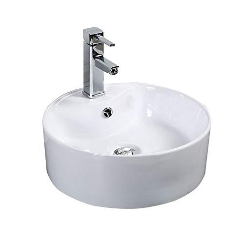 HoGau aanrecht wastafel duurzaam en gemakkelijk te reinigen badkamer schip wastafel ronde boven Counter wastafel Art Basin voor lavendel kast hedendaagse stijl