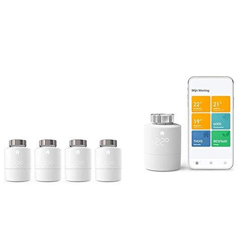tado° Smartes Heizkörper-Thermostat - Quattro Pack, Zusatzprodukte für Einzelraumsteuerung & Smartes Heizkörper-Thermostat Starter Kit V3+ - Intelligente Heizungssteuerung