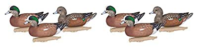 Flambeau Outdoors 8024SUV Storm Front 2 Wigeon Decoys, Classic Floaters - 6-Pack