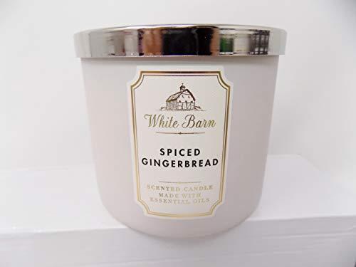 White Barn Spiced Gingerbread Scented 3 Wick Candle (Vanilla Icing, Cinnamon Sugar, Fresh Nutmeg) Made W Essential Oils 14.5 oz