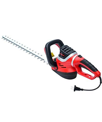 1yess Heckenschere Elektro Elektrisch mit starken 850 Watt - mit innovativem Laser-Schnitt-Messer und praktischen Ausschnitten - for A Nice Cut Ihre Hecke, Sträucher und Büsche