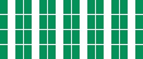 Mini Aufkleber Set - Pack glatt - 33x20mm - Sticker - Nigeria - Flagge - Banner - Standarte fürs Auto, Büro, zu Hause & die Schule - 24 Stück