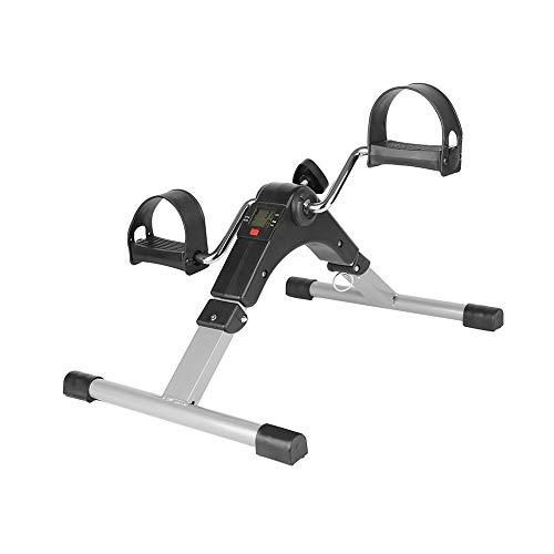 Stoelfiets Pedaaltrainer inklapbaar, Mini Bike, Bureaufiets Fietstrainer met Display Homtrainer, Zwart, 37 * 50 * 23,5 cm