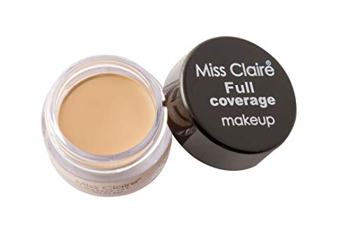 Miss Claire Full Coverage Makeup + Concealer #10, Beige, 6...