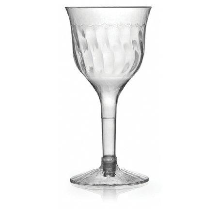 Copas de vino de plástico elegante, 170 ml, paquete de 10 unidades