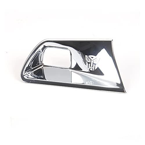 HYZZ Molduras Interiores Botón De Arranque Y Parada del Motor Trim Cubierta del Interruptor De Arranque Sin Llave para Chevy para Camaro 2017+ Car Styling (Color : Cromo)
