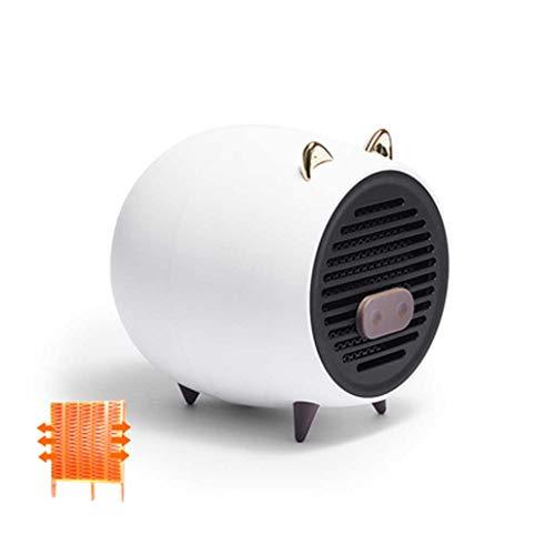KHFE Mini Ventilador Caliente Calefactor Ventilador Cerdito, Calentador Habitación Ventilador Calentador Eléctrico Casero Creativo, Calentador, Calentador Escritorio Interior, Blanco
