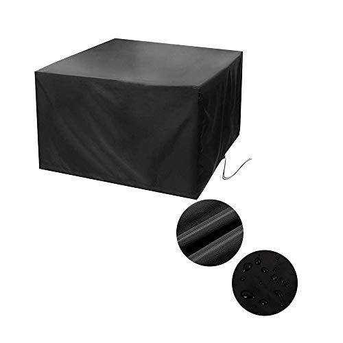 NINGWXQ Garden Furniture Cover Koord Ontwerp Weerbestendigheid gemakkelijk op te vouwen bescherming zeildoek van Set Outdoor Machine, 27 maten, 2 kleuren (Color : Black, Size : 126×126×74cm)