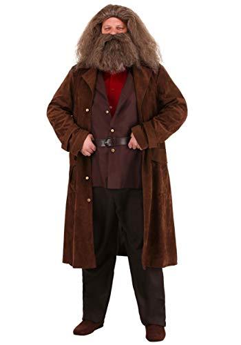 Jerry Leigh Disfraz de Hagrid de Harry Potter para hombre, talla M, color marrn