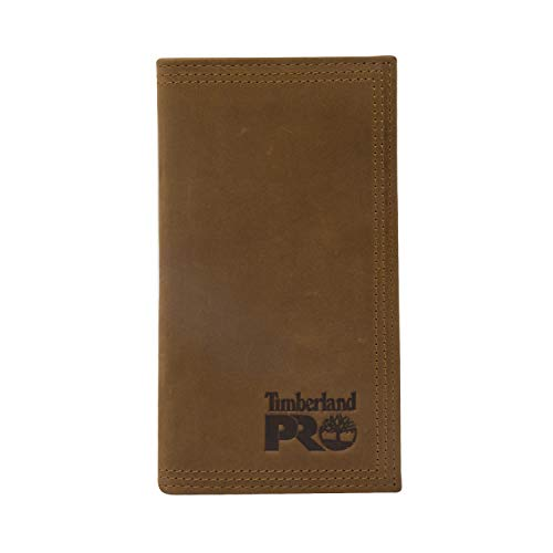 Timberland PRO Men's Leather Long Bifold Rodeo Wallet with RFID, Wheat, One Size