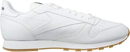 Reebok Herren Classic Leather Low-Top, Weiß (white/gum), 39 EU