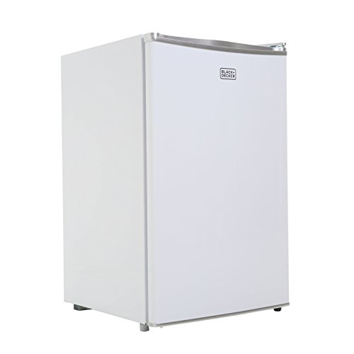 BLACK+DECKER BCRK43W Compact Refrigerator Energy Star Single Door Mini Fridge with Freezer, 4.3 Cubic Ft, White