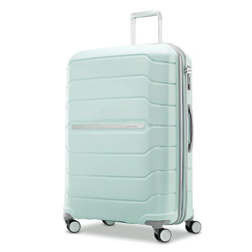 Samsonite Freeform Hardside Expandable with Double Spinner Wheels, Mint Green, Checked-Large 28-Inch