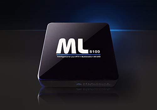 Medialink ML8100 IPTV Set Top Box 4K Full UHD 60fps SE - schwarz