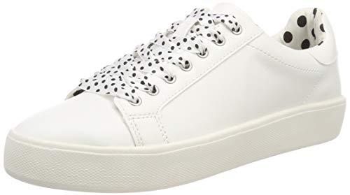 Tamaris Damen 1-1-23724-22 145  Sneaker, Weiß (Wht/Blk Dots 145), 38 EU