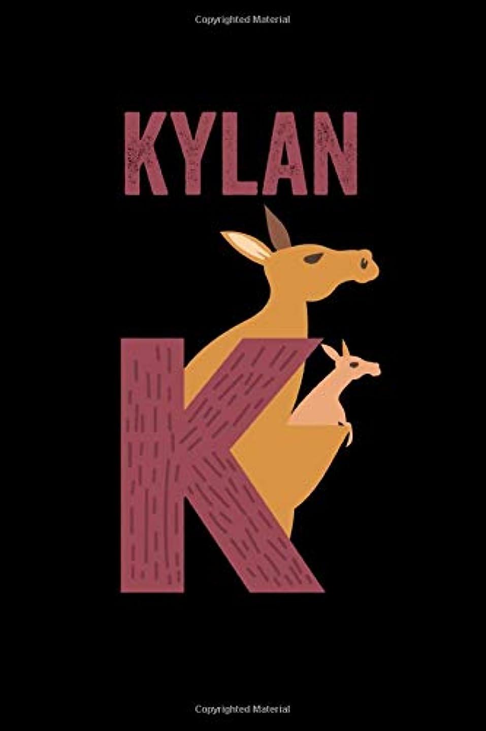 入札子豚ジョリーKylan: Journal (Diary, Notebook) Personalized Custom Name Alphabet Kangaroo Birthday Gift for Boys