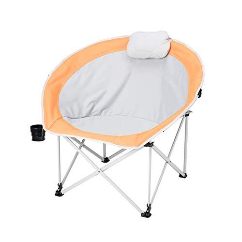 CATRP Marke Campingstühle Luxus Falten Im Freien Freizeit Tragbar Fischenstuhl Heavy Duty Mit Getränkehalter, 3 Farben (Farbe : Orange)