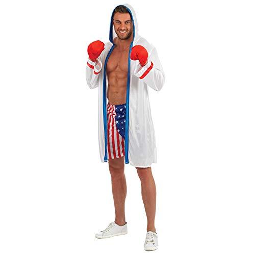 Fun Shack Blanco Boxeador Disfraz para Hombres - L