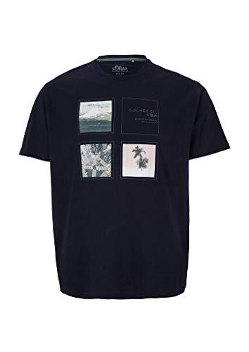 S.Oliver Big Size T-Shirt Regular Fit Camiseta, 5882 Roca Lunar, XXL para Hombre