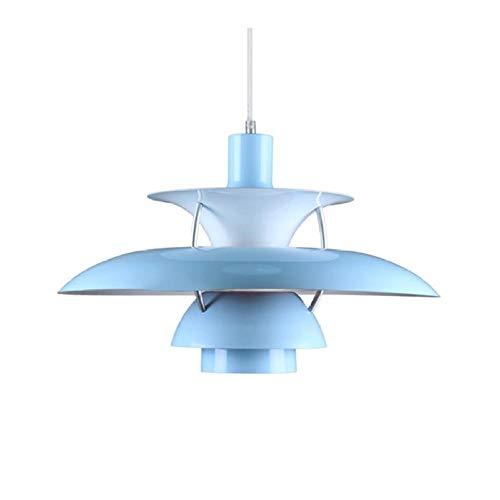Pendelleuchten Hängeleuchten Hängelampe Pendellampe Ph5 Pendelleuchte Moderne Pendelleuchten Kücheninsel Lampe Nordic Contemporary Large Living Esszimmer Beleuchtungskörper Dekoration-Blau_Durchmesser