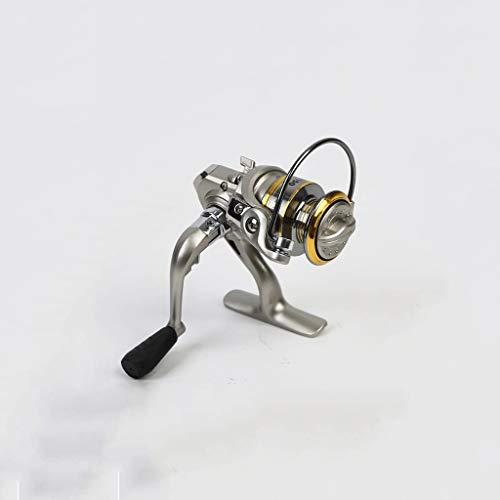TJLSS Pesca de Hielo del Metal del Carrete Completo Carrete de la Pesca del Carrete de Bobina pequeña Plegable Pesca Carrete Que Hace Girar