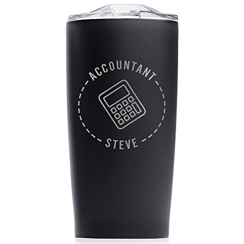 Lifetime Creations Engraved Personalized Accountant Tumbler 20 oz (Black) - Custom Gift for Accountant, CPA, Financial Advisor, Auditor, Banker, Accounting Firm Stainless Steel Coffee Travel Mug
