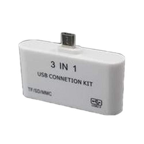 YTJ gunstig Mode Nieuwe USB,Connection Kit HUB SD TF Kaartlezer Adapter voor OTG Mobiele Telefoon Ondersteuning Externe USB Muis Toetsenbord (Kleur: Wit)