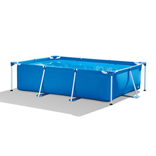 DFSDG Piscina de gran tamaño para adultos de la familia engrosada para niños grandes inflables de verano piscina plegable inflable (tamaño: 220 x 150 x 60 cm)