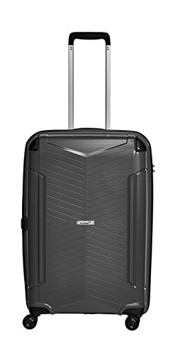 Packenger Koffer - Silent - (L), Schwarz, 4 Zwillingsrollen, 71 Liter, 3,9Kg, Koffer mit TSA-Schloss, Polypropylen, Reise Trolley