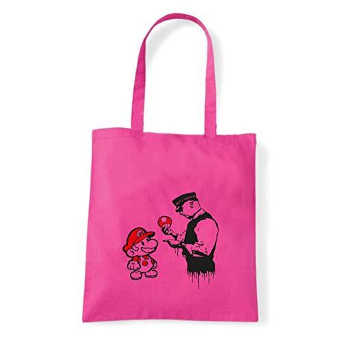 Art T-shirt, Shoulder S Mario Graffiti, Shopper, Mare