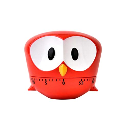 Mekta Nette Karikatur Eule Timer Mini 60 Minuten mechanische Küche Kochen Timer Clock Laut Alarmzähler Manuelles Küchentimer Kochzubehör
