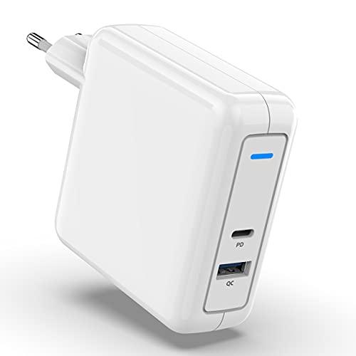 78W USB C Cartoon, Fuente de alimentación Tipo C + Conexiones de Carga rápida Estación de Carga de Pared, Fuente de alimentación Batería para Mac Book Pro/Air, HP/DELL/Huawei/XiaoMi/Pad Pro/Samsung