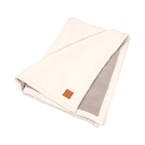 Kaiser 6567130 Decke Quilly - Knit Design super soft, beige