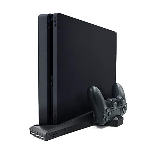 Ashley GAO Para PS4/PS4 delgado vertical soporte con ventilador de refrigeración Dual controlador cargador estación de carga para Sony Playstation