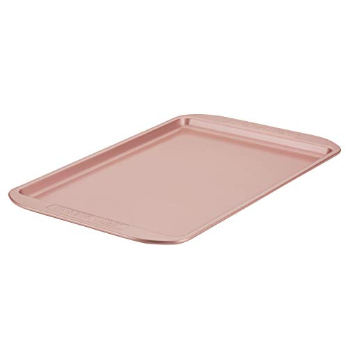Farberware Nonstick Bakeware, Nonstick Cookie Sheet / Baking Sheet - 10 Inch x 15 Inch, Rose Gold Red
