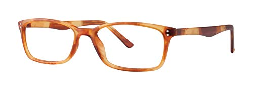 Reading Glasses by SCOJO New York, Gels Manhattan Readers, Rectangle Glasses, Matte Havana, 1.50 Magnification