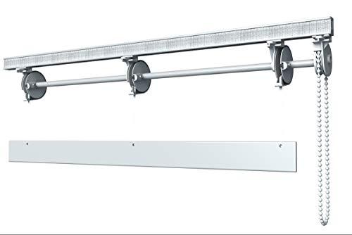 Bastone Binario per Tenda A Pacchetto con 4 CALATE A SGANCIO RAPIDO in Alluminio (160 cm)