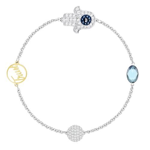 Pulsera Swarovskis Crystal Remix Forever Strand, cristales blancos brillantes que se pueden combinar con cualquier atuendo 5365759