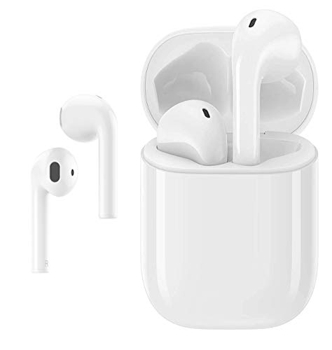Wireless Earbuds Bluetooth 5.0 Headset Bluetooth Headphones with 24Hrs Charging Case,Sweatproof Earbuds Built-in Mic Single/Twin Mode,3D Stereo Earphones,for iPhone Airpods Android Samsung