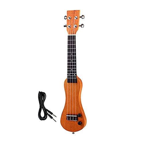 YUTRD ZCJUX Guitarra eléctrica de 21 Pulgadas, Ukelele, cáscara de Madera Maciza,...