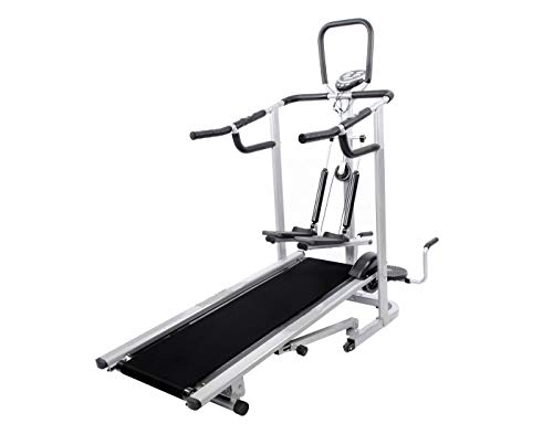 Gymally 4 in 1 Deluxe Manual Treadmill with Twister, Stepper & 3 Level inclination