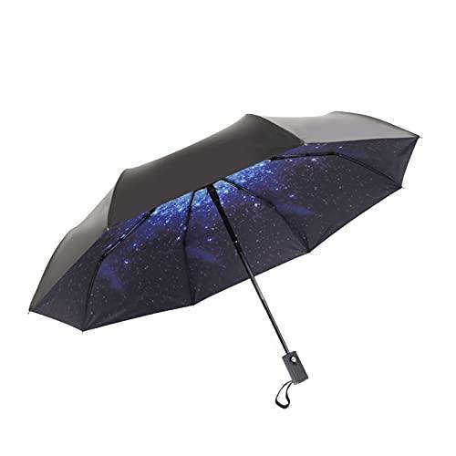 GOUYUAN Paraguas Anti-Uv Completo Automático Umbralla Lluvia Mujeres Hombres 3 Luz Plegable Y Niños Duraderos Soleado Lluvioso