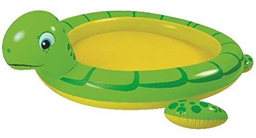 Jilong Turtle Spray Pool 215x189 cm Kinderpool mit Sprüher Planschbecken Gartenschlauch-Anschluss