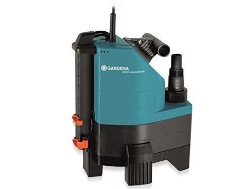GARDENA 01797-61 Schmutzwasser-Tauchpumpe 8500 aquasensor, 380 W, türkis, schwarz, Orange