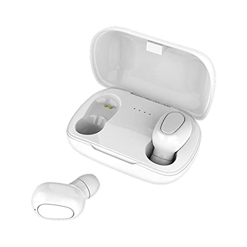 Auriculares intrauditivos Bluetooth Auriculares HIFI Sounds Auriculares inalámbricos Manos libres Auriculares estéreo para juegos (blanco-a)