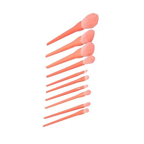 Herramientas de maquillaje, herramientas de maquillaje profesionales Mango cómodo 10 piezas con mango para mujer para tocador
