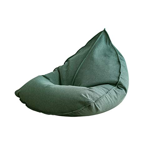 FINDYU Bean Bags With Particle Filling, Comfortable Washable Cover Lazy Sofa For Kids Adults Living Room (Color : Green)