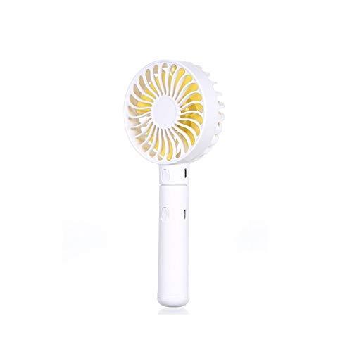 Mini ventilatore portatile Ventilatore portatile for viaggi di campeggio e attività all'aperto (Color : White)